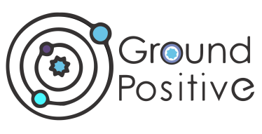 Logo for ground positive media company