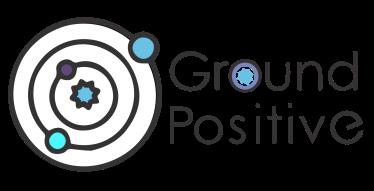 Logo for ground positive media company